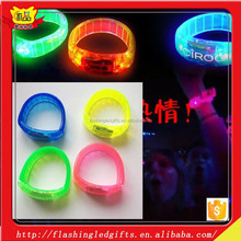 Hot sale festive supplies led bracelet OEM flash wrist band glow bracelet light up bracelet well for christmas
