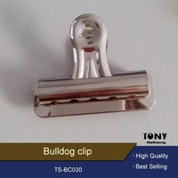 All size stainless steel black metal bulldog clip