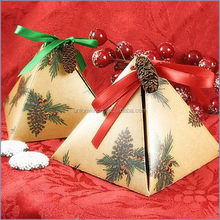 Good quality promotional red wedding favor boxes