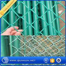 2015 hot new products galvanized pvc coated chain link fence/plastic chain link fence