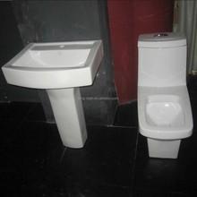 Square WC Washdown Toilet, Ceramic bathroom Square one piece toilet ,One Piece Square Toilet