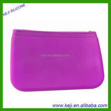 2015 Hot sell fashion zipper silicone rubber wallet/silicone smart jelly purse
