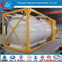 ASME Standard 80CBM pressure tankers anti acid top safety LPG storage tanker used iso tank container