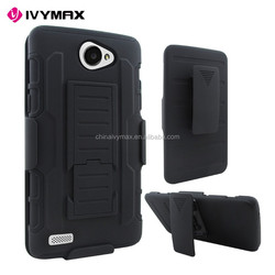 2 In 1 Design dual layer armor kickstand silicone cell phone case for LG Bello2