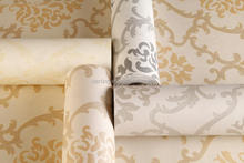 top quality vinyl pvc 3d modern embossed textured fashion glue contemporary wallpaper border cheap feasible price china