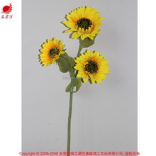 Cheap halloween decorations silk flower for clothes shipping container homes decoration fabric flower sunflowers