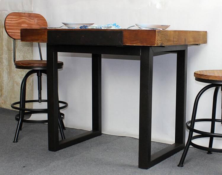 두꺼운 나무 최고 산업 테이블 금속 fram-목재 테이블 -상품 ID ...