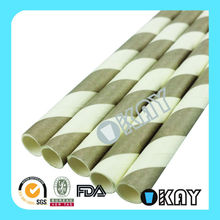 Grey And White Stripes Paper Straws Crafts For Every Party