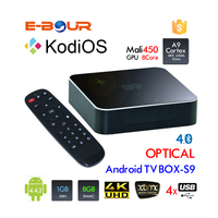 S9 Smart Chipped Google Android System Internet TV Box with Free Russian and Arabic Channels