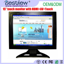 1024x768 Resolution 15 inch TFT Touch Screen LCD Monitor 4:3