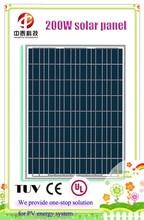 High efficiency 200W polycrystalline silicon solar panel