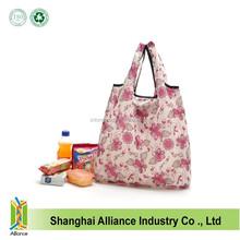 Promotional Nylon Foldable Shopping Bag With Full Printing