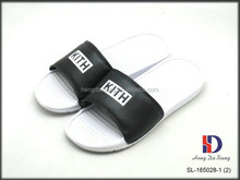 Men's Custom Logo PU upper Slide Slippers