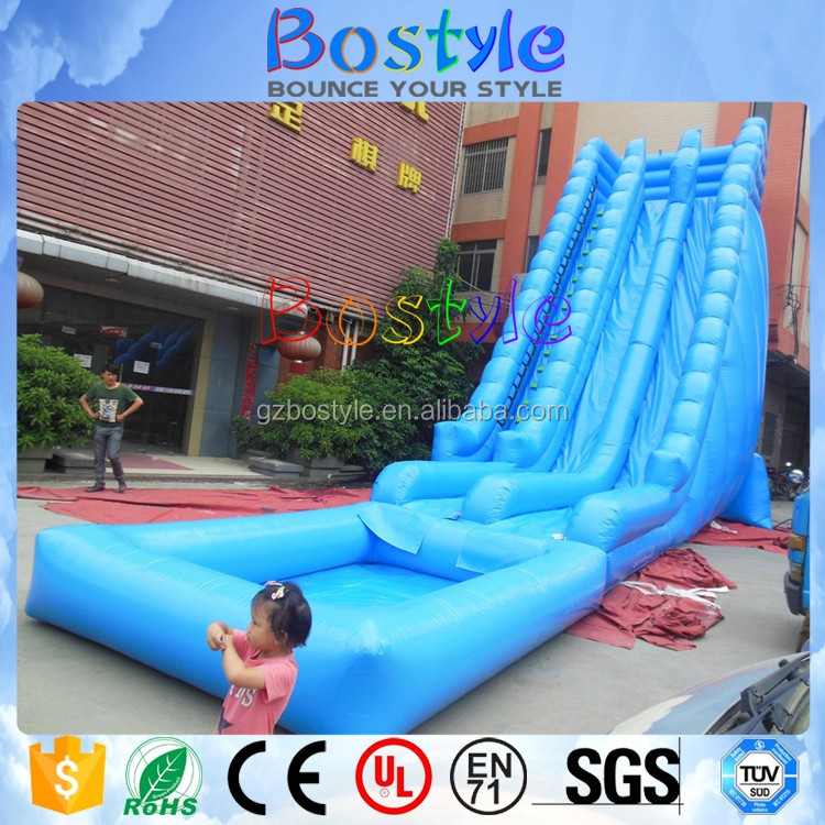 Inflatable Water Slide Safety Rules: Hot Sale Long Double Slide Inflatable Water Slide / Bouncy