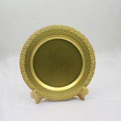 cheap blank gold decorative plates souvenir commemorative plate