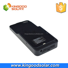 WIFI reception enhanced 3000mah lithium battery wireless solar mobile phone charger case for iphone5