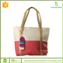 1PC Sweet Fashion Mixed Color PU Shoulder Bag woman Handbag
