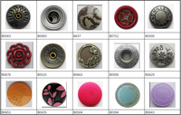 wholesale button factory clothes different types of snap buttons