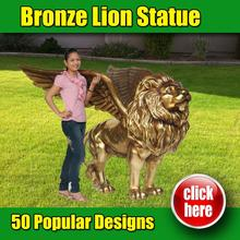 Custom lion statue significance