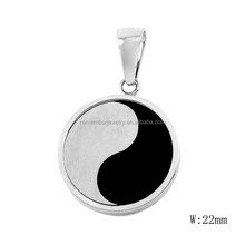 SRP2333 Fashionable Jewelry Yin Yang Fish Taoism Round Pendant Surgical Stainless Steel Jewelry Pendant