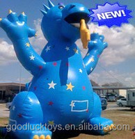 inflatable 25ft tall Blue Dragon Balloon Adorned with Stars