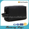 Customized black 600D hanging toiletry travel bag