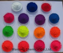 Fluorescent pigment for textile printing ink