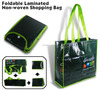 folding nonwoven bag for shopping with infront pocket
