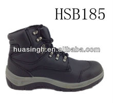 industrial filed men used top grade leather safety boots with steel shank