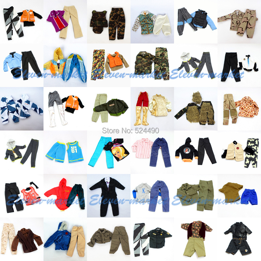 10 units Handmade Outfit Plug Go well with Ball Uniform / military fight uniform / Leasure Put on Clothes Equipment For Barbie Boy Ken Doll