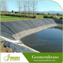 Water barrier geomembrane construction