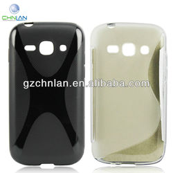 2013 Manufacturer !!! Rubber TPU Case For Samsung Galaxy Ace 3 S7272 Case