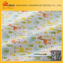 Colorful lovely new zoo decorative bedding organic baby fabric