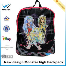 Custom-make Popular monster high Backpack zoo pack little kid backpack School backpack Alibaba China