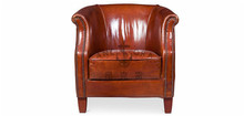 Vintage Country Style Leather Club Sofa K651