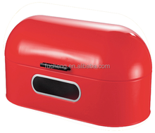 carbon steel red bread storage container for sale decorative