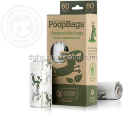 Oxo-biodegradable pet waste dog poop bags with logo 2015