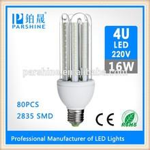 E27 U shape led corn light 220v 16W dimmable led bulb lamp