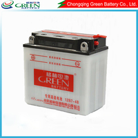 12n7-4b OEM available best lead acid battery production line,produting 12v 7ah motorcycle starter battery(12N7-4B)