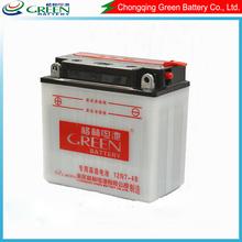 12n7-4b OEM available best lead acid battery production line,produting 12v 7ah motorcycle starter battery(12N7-4B)