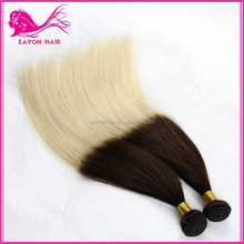 Straight Wave Ombre / two tone Color Virgin Brazilian Hair Weave Weft