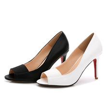 Para mujer peep toe moda bombea mujeres del alto talón zapatos de vestir