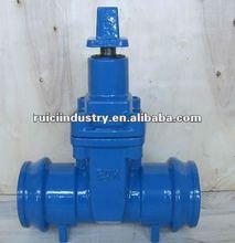 PN16 DIN rising stem lever cast iron gate valve