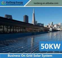 Complete Ground Mounted Commercial Grid Tie 50KW Solar System