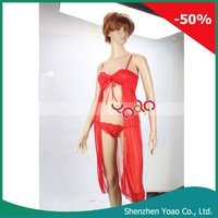 Red Sexy Lingerie overskirt Women Underwear 6172#