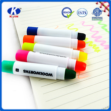 2015 oem accept high quality 5 colors highlighter pen into plastic box for students and offices