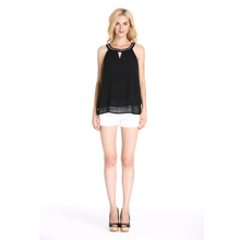 Factory Directly Sexy Chiffon Black Off - Shoulder Tops