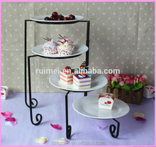 Professhional nice look table top wedding cake stand