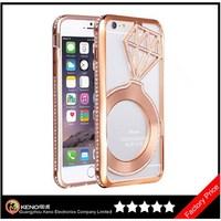 Keno Sky Star Luxury Bling Crystal Rhinestone Aluminum Metal Bumper Back Diamond Case for iPhone 6