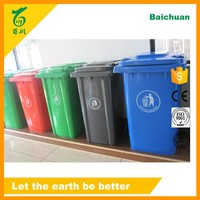 240lt Plastic UV Resistant Colorful Recycle Bin with 2 Wheels for Outdoor Use